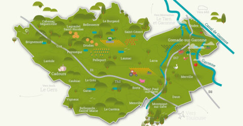 Carte des Hauts Tolosans
